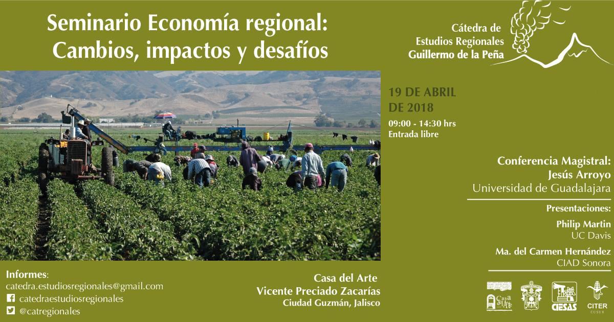 Seminario Economía regional: Cambios, impactos y desafíos @ Casa del Arte CUSUR | Ciudad Guzman | Jalisco | México