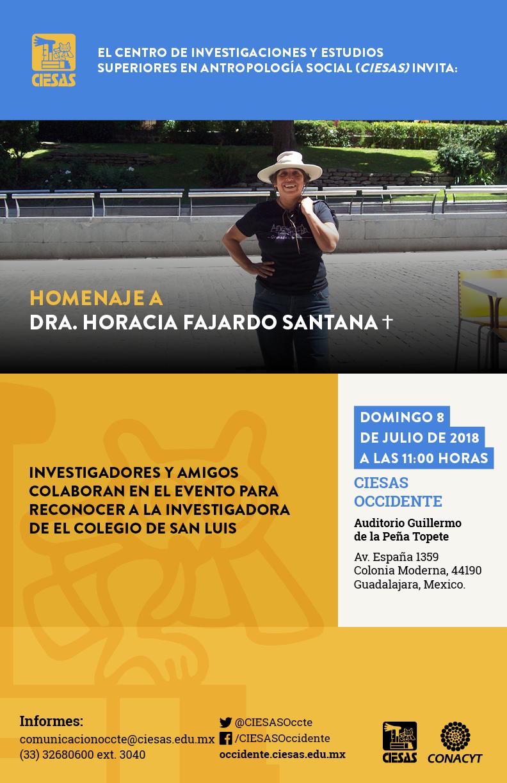 Homenaje dra. Horacia Fajardo