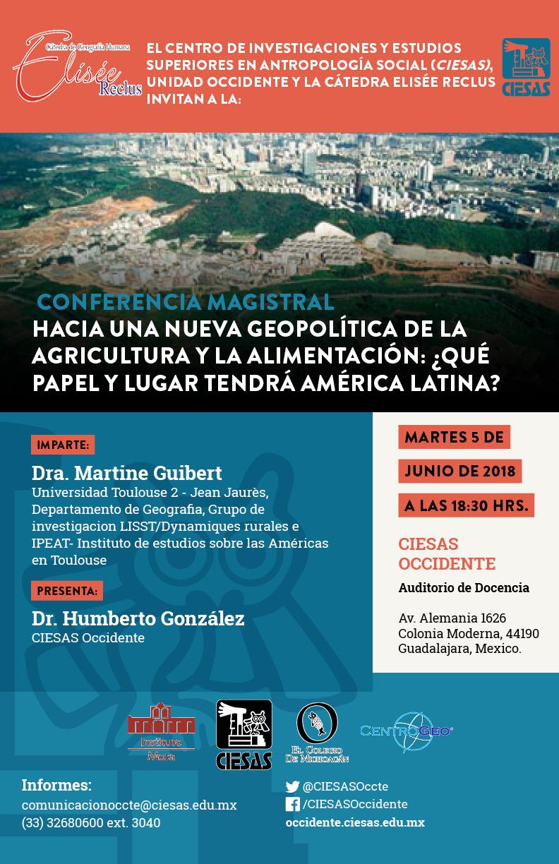 Martine Guibert Cátedra de Geografía Humana Elisée Reclus