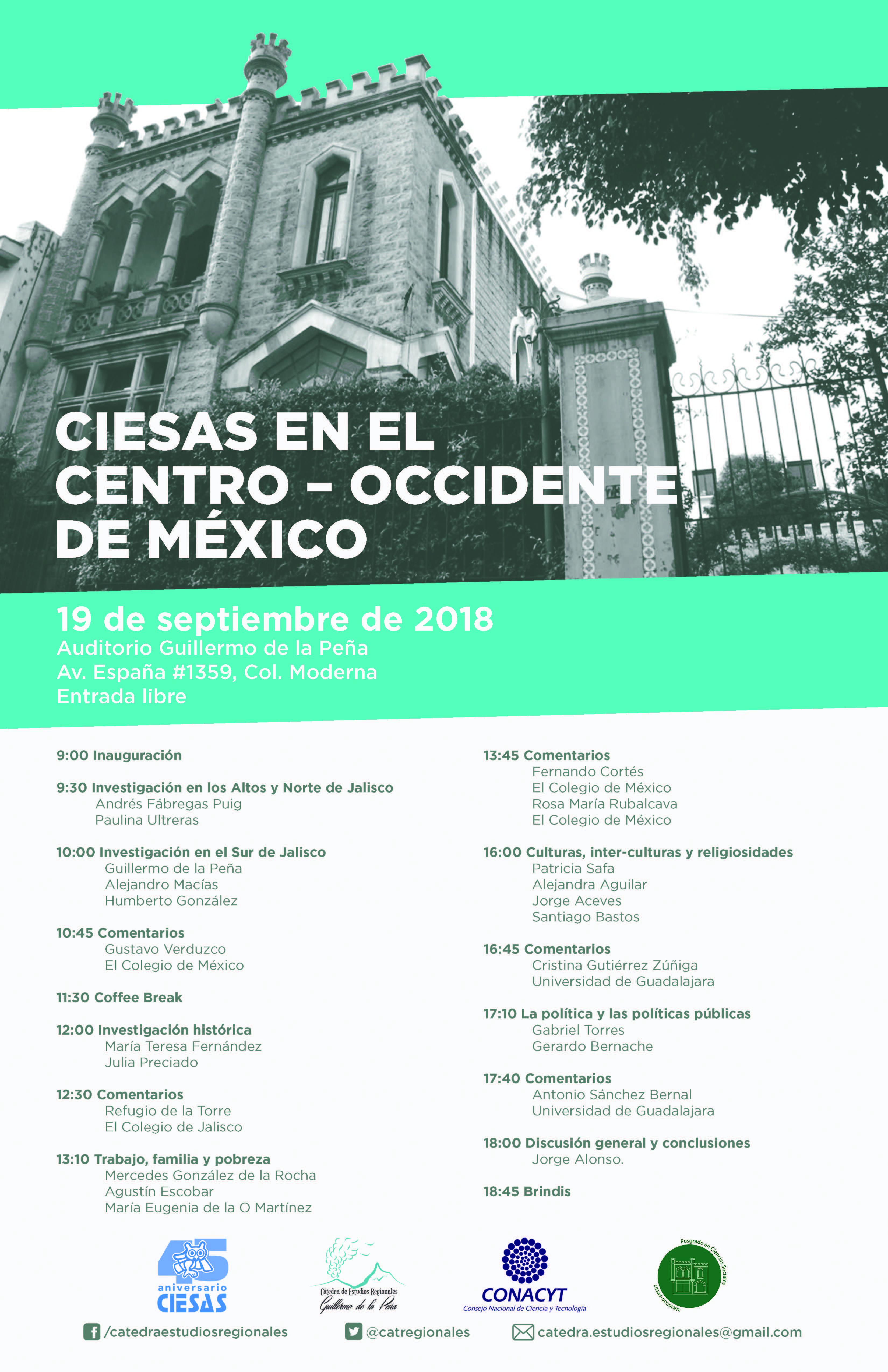 CIESAS en el Centro-Occidente de México 45 años del CIESAS