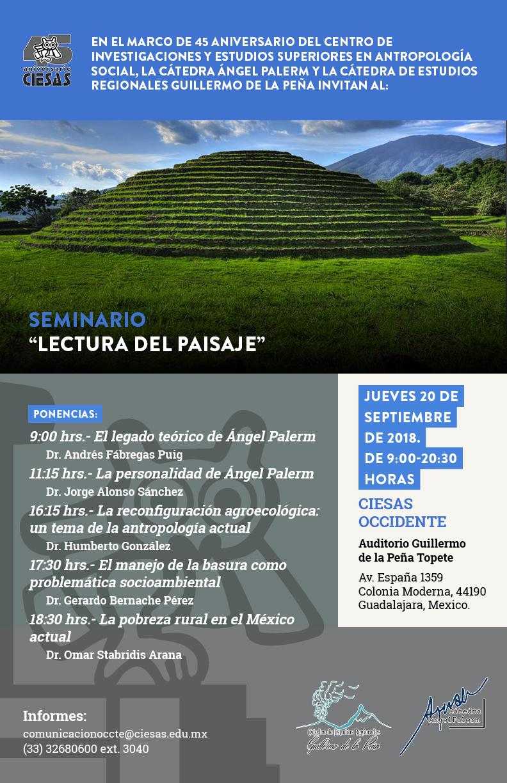 Seminario Lectura del paisaje 45 años del CIESAS
