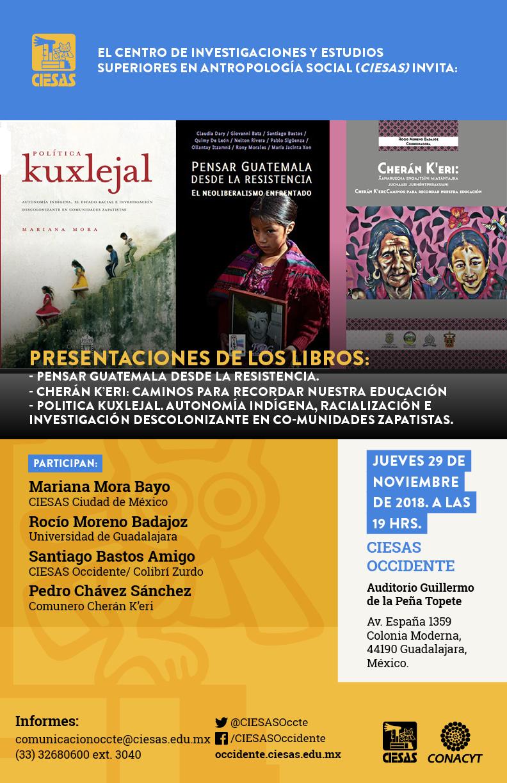 Presentaciones de los libros resistencia y pueblos indígenas @ Auditorio Guillermo de la Peña | Guadalajara | Jalisco | México