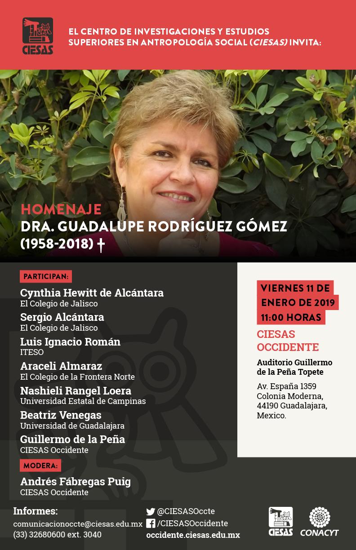 homenaje dra guadalupe Rodríguez ciesas occidente