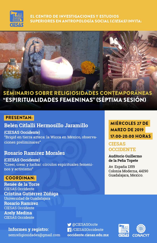 seminario religiosidades espiritualidades femeninas