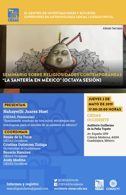 """Seminario sobre religiosidades contemporáneas: """"La santería en México"""" (octava sesión) @ Auditorio Guillermode la Peña Topete"""